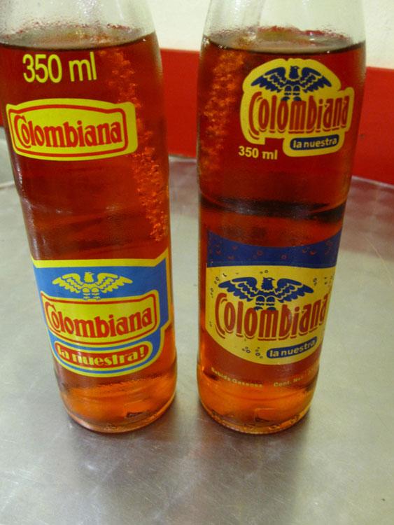 C'est pas de la bière... c'est le soda de Colombie, au goût d'Inca Kola (chewing-gum)