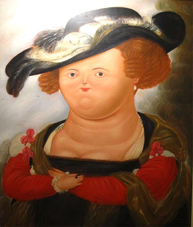 Mrs Rubens, 1968 - Huile sur toile