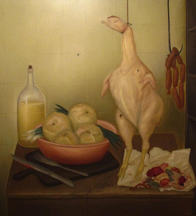 Table de cuisine, 1968 - Huile sur toile