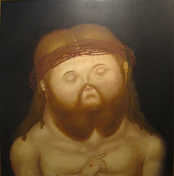 Tête de Christ, 1976 - Huile sur toile
