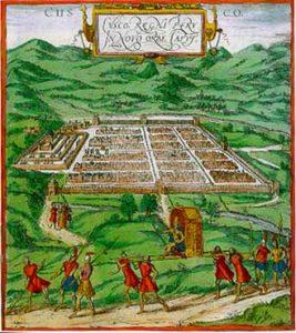 Cusco, lithographie espagnole