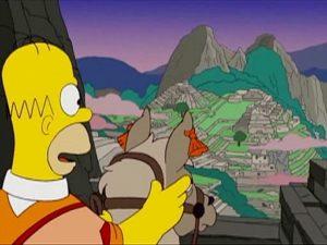 Homer au Machu