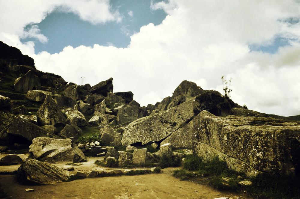 Machu Picchu, carrière de pierres