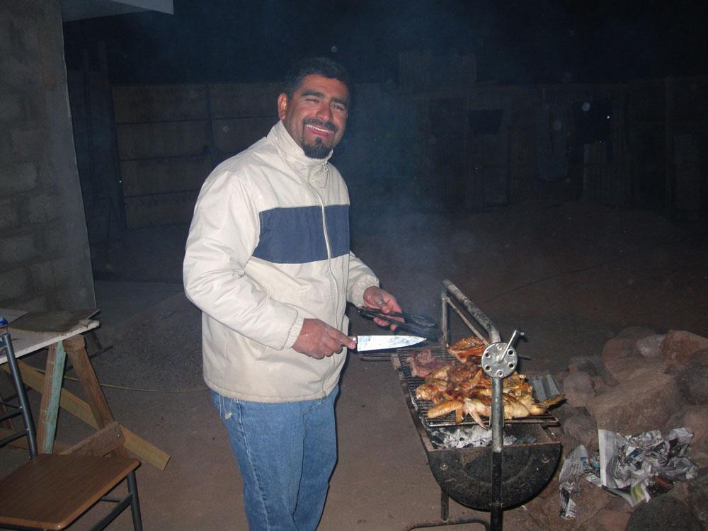 Réconfort le soir-même autour d'un asado, avec Eduardo...