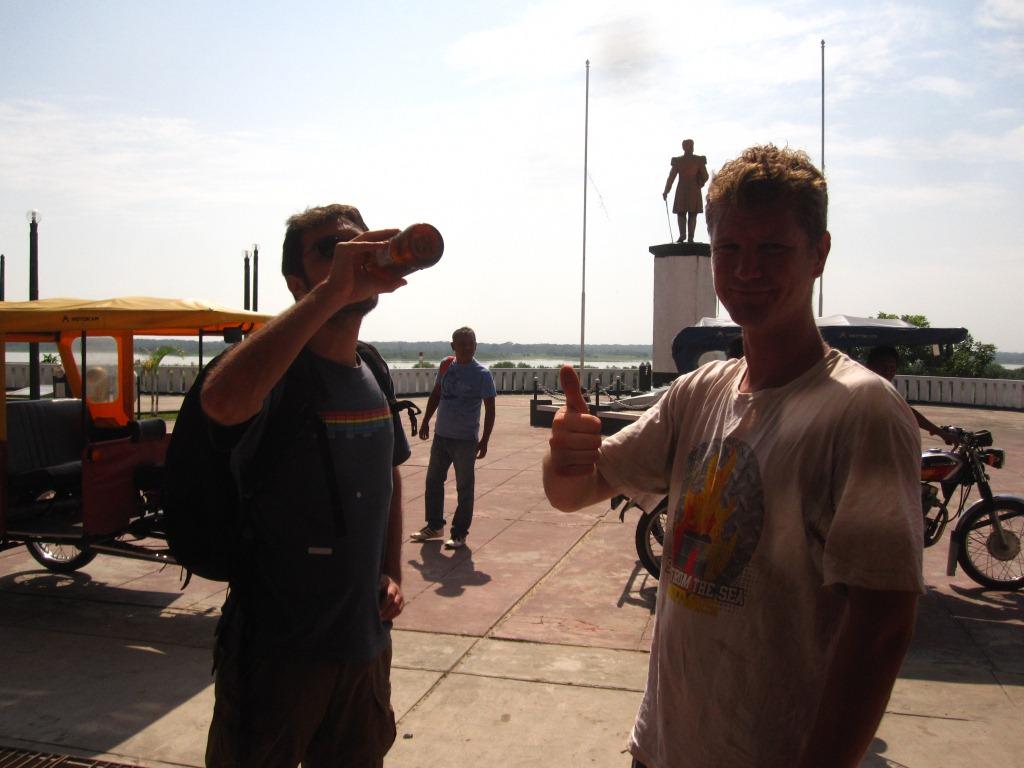 Petit déj' bière avec Aaron