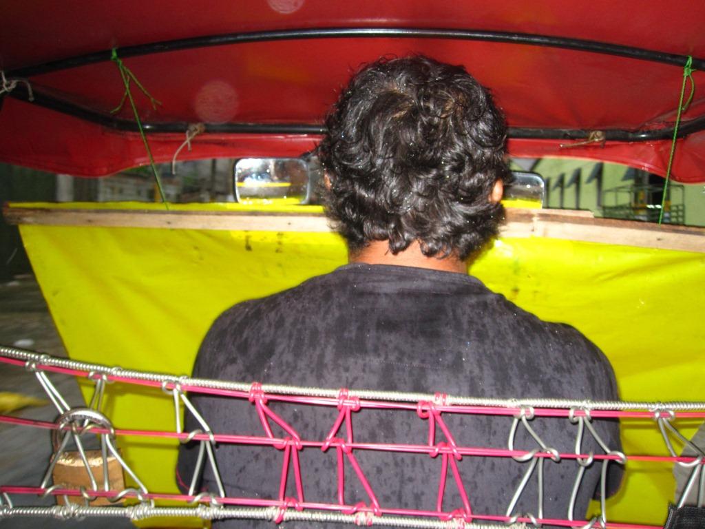 Moto-taxi par temps pluvieux