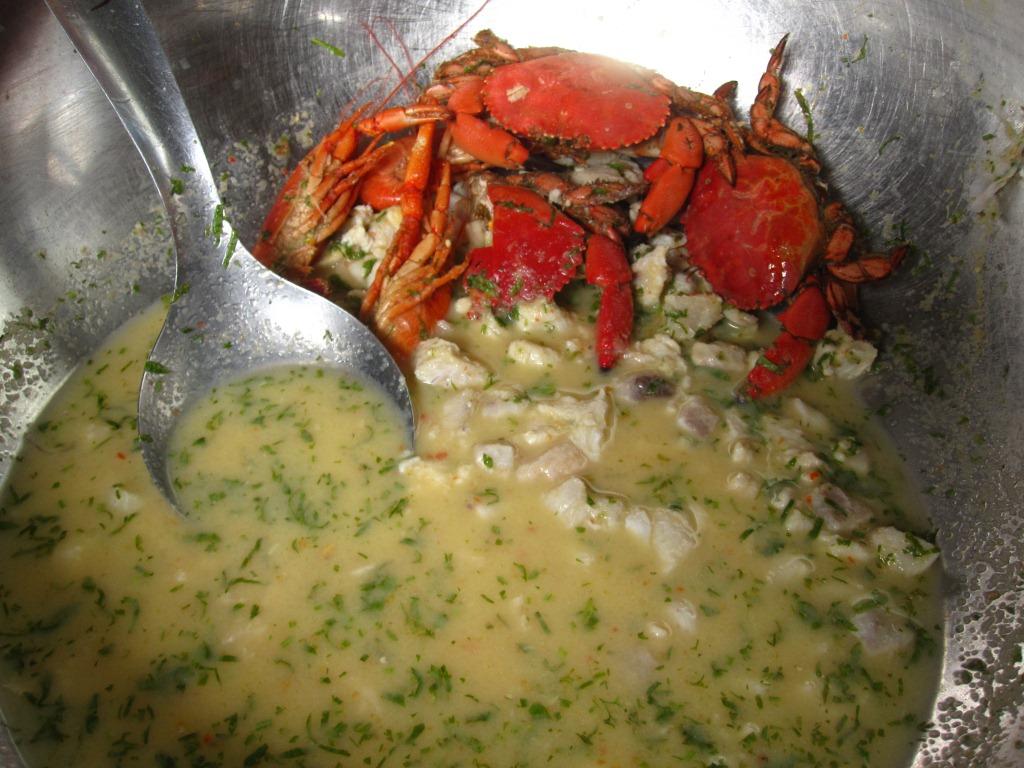 Cebiche au crabe terrestre
