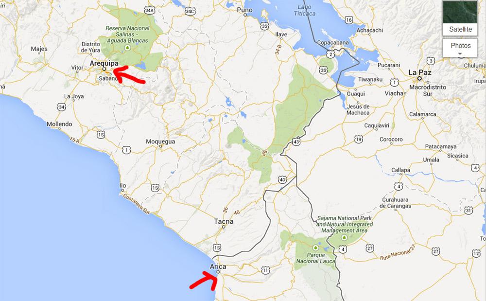map arica