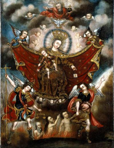La vierge du Carmel sauvant les âmes du purgatoire, XVIIe siècle, Musée de Brooklyn