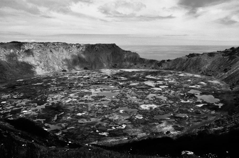 Le cratère du Rano Kau, février 2012
