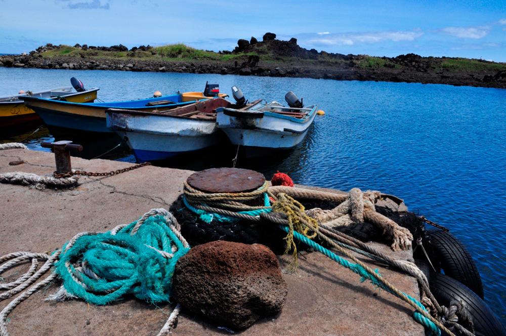 Le port de Hanga Piko