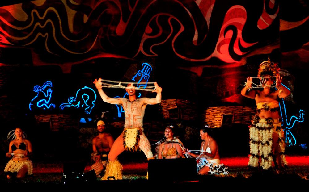 Tapati, spectacle d'inauguration, démonstration de Kai Kai à laquelle on n'a rien compris