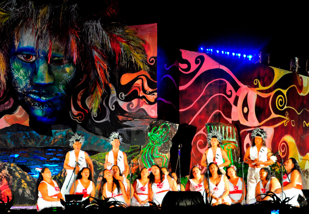Tapati, concours de chant collectif, équipe de Céline