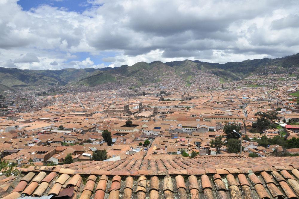 Les toits du centre ville depuis le quartier San Blas