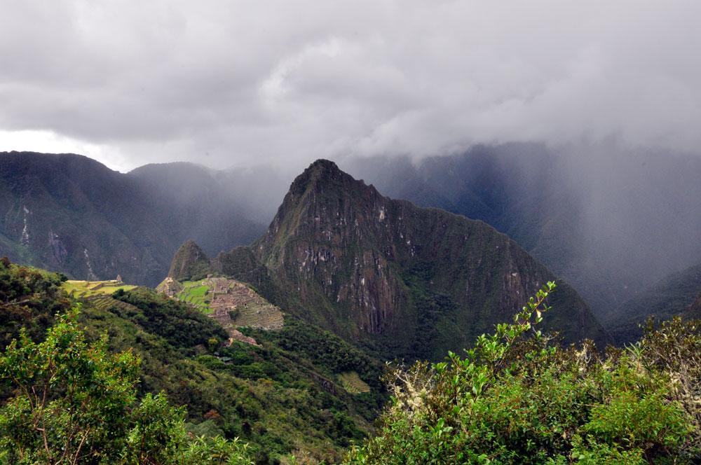 Machu Picchu, depuis le chemin de la porte du soleil