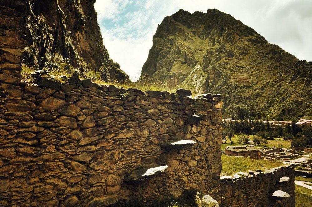 Ollantaytambo, à noter les petites marches pour accéder aux terrases
