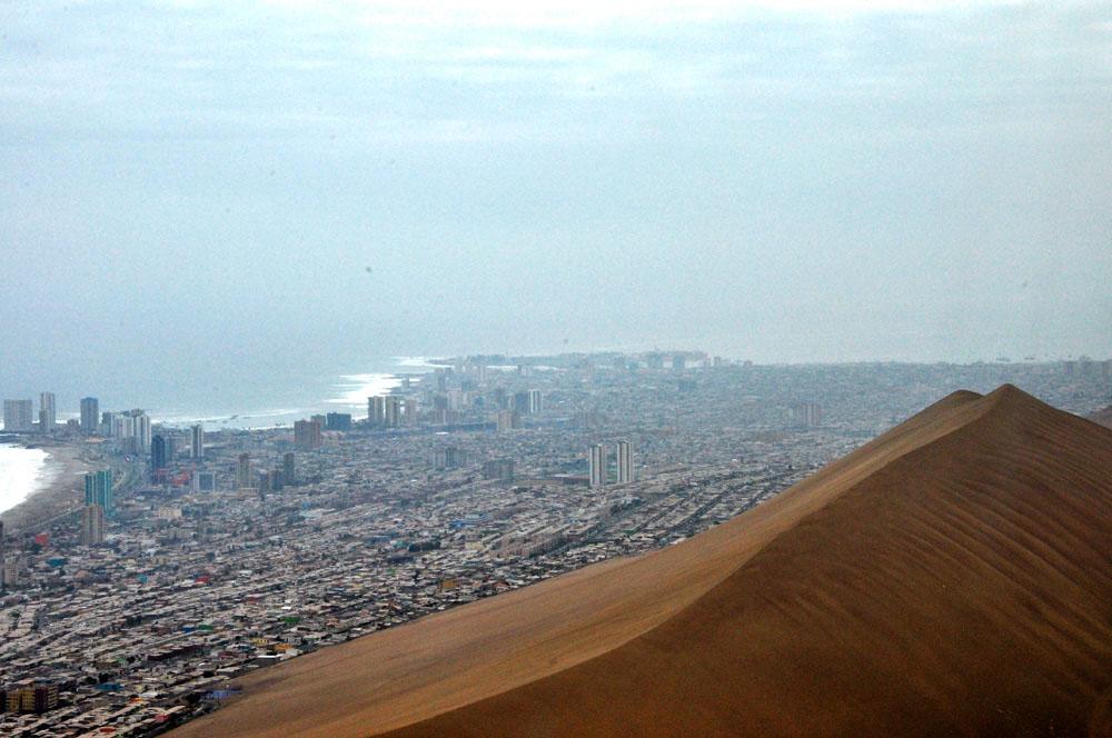 Iquique, cerro dragon, dune de sable