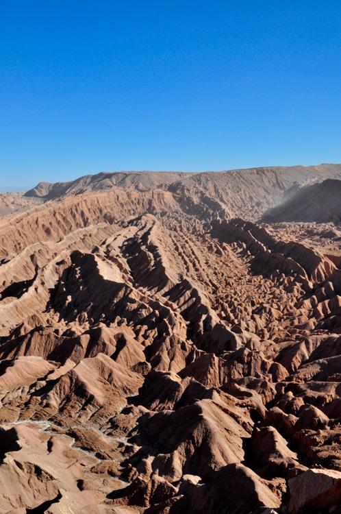 Vallée de la mort vue du mirador de Quitor