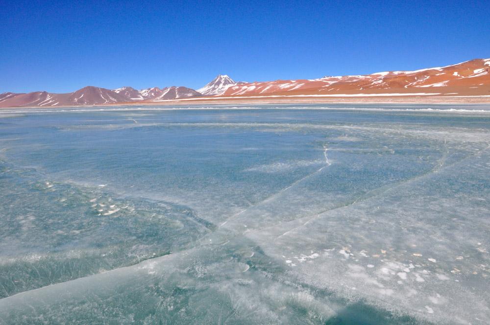 La laguna diamante, gelée, salar de Tara