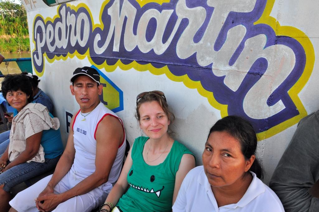 Sur le pont, avec Roberto et Maria