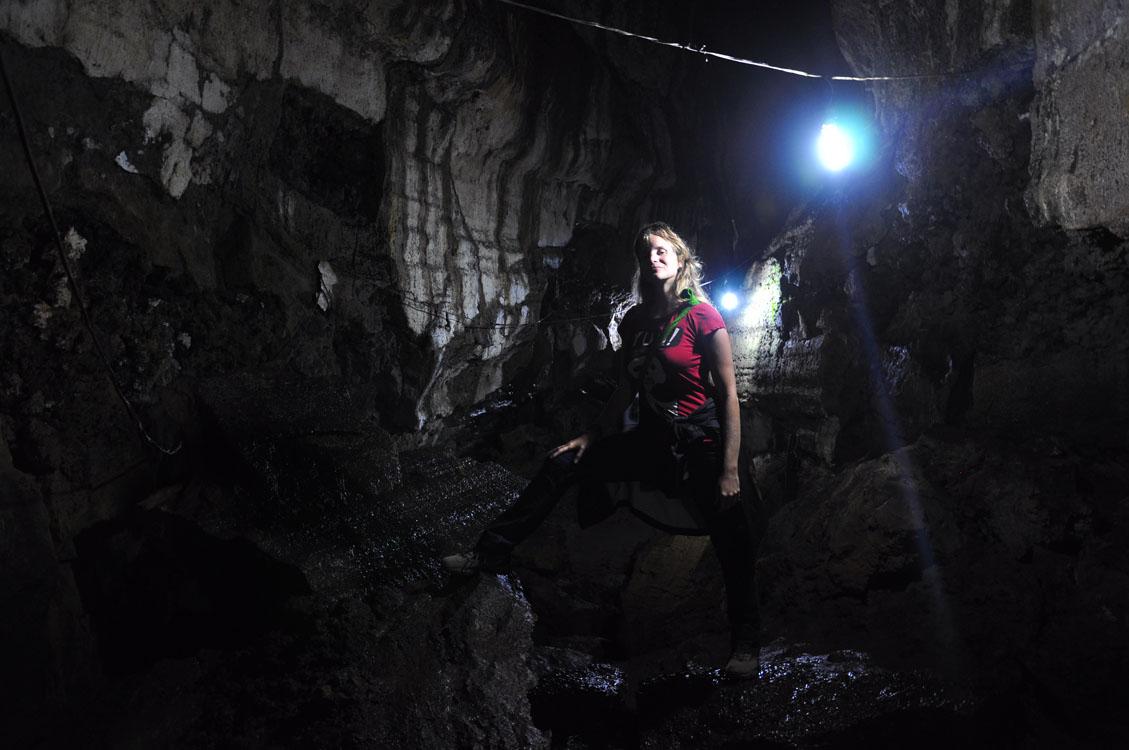 Santa Cruz, tunnel de lave