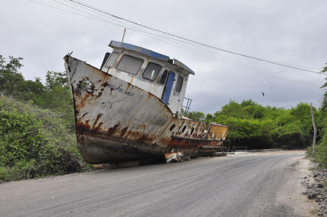 Un bateau en route