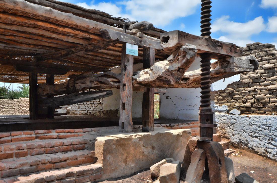 La vis en bois géante du pressoir