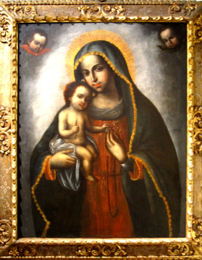 Vierge à l'enfant (Il y a un colibri dans la main de Jésus!), Iglesia del Carmen, Trujillo