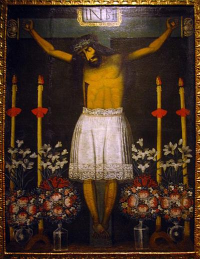 Señor de los temblores (à morphologie andine) XVIIe siècle, Musée d'histoire de Cusco