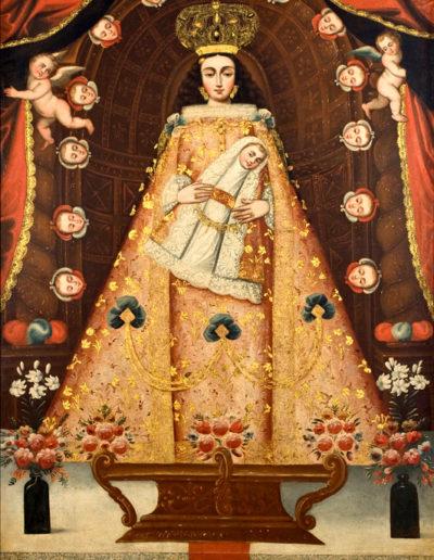 Notre-Dame de Belén, pyramidale façon Pachamama, XVIIIe siècle, Musée d'arte de Lima