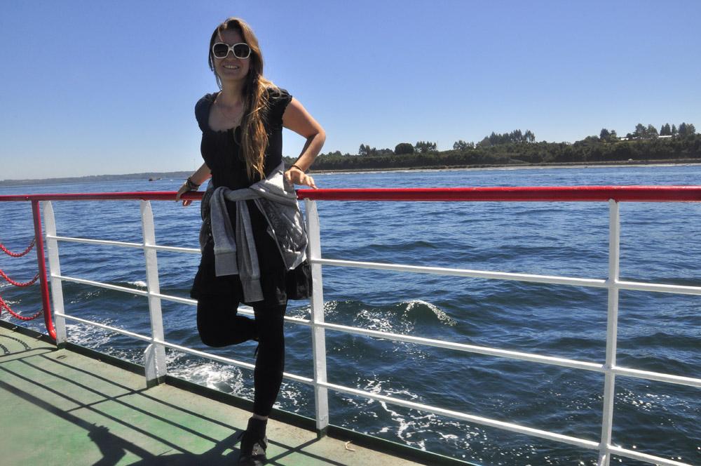 Sur le ferry pour Chiloe