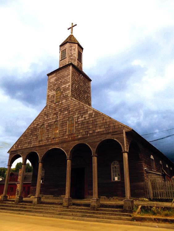 L'église en bois d'Achao, la plus ancienne de l'archipel