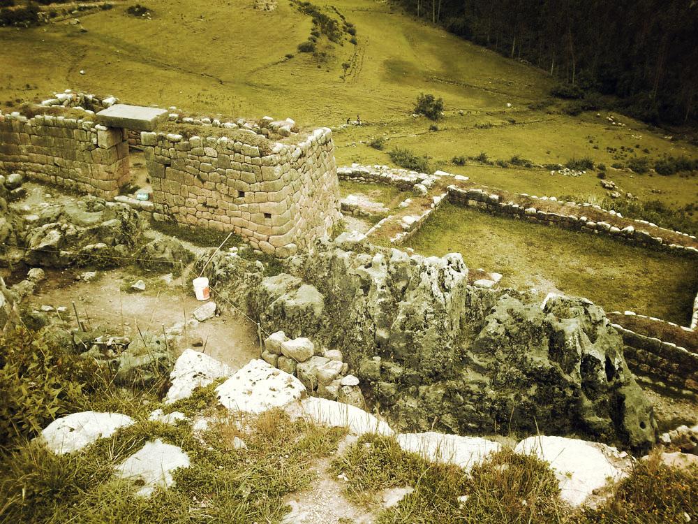 Puka Pukara, vue sur la vallée