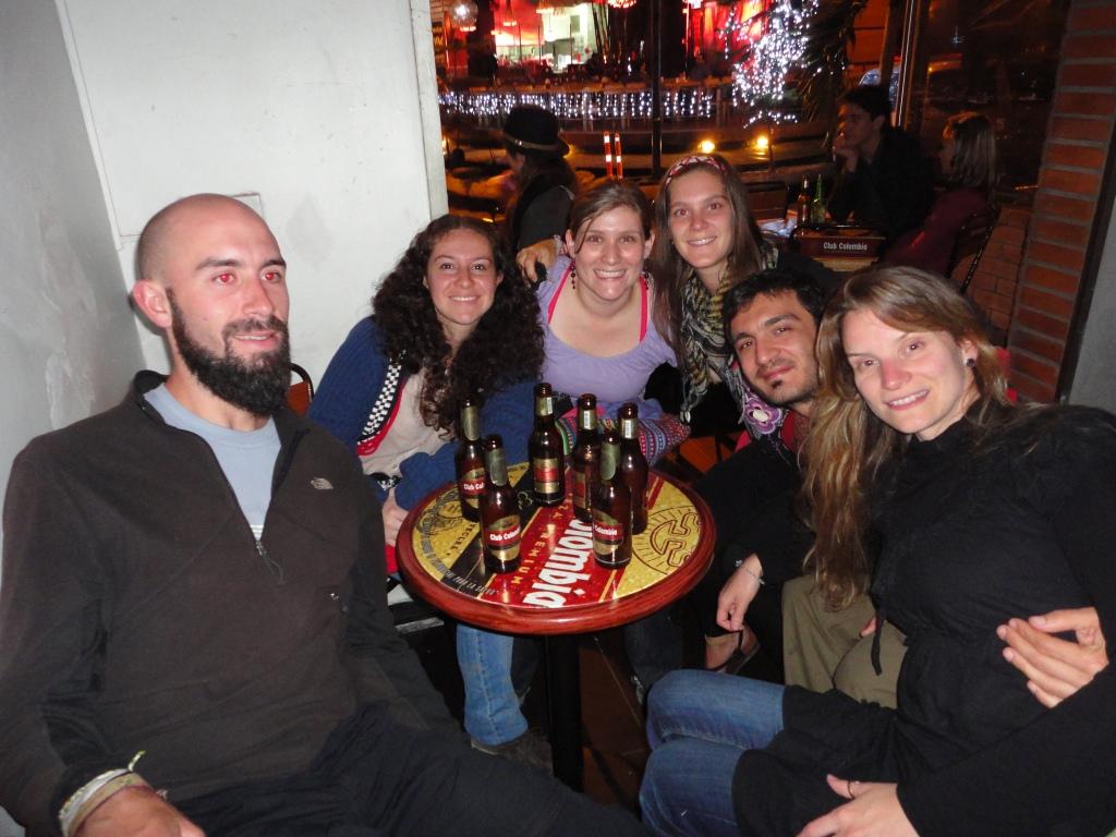 Retrouvailles avec Bast et Ju, chaperonnées par Paola et Monica, les copines colombiennes