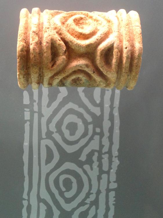 Tampon (pour impression sur tissus) Zenu (450 - 1500)crête caraïbe et plaines marécageuses