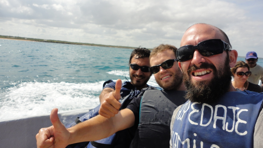 en route pour Punta Gallinas, début de la douche