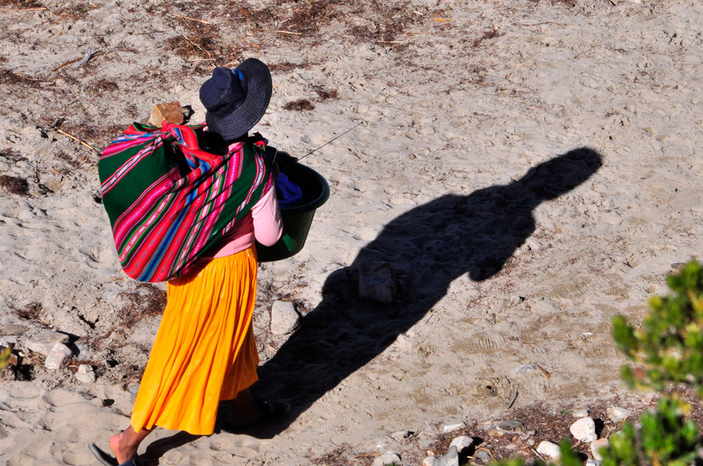 Isla del Sol, admirez le sac à dos !