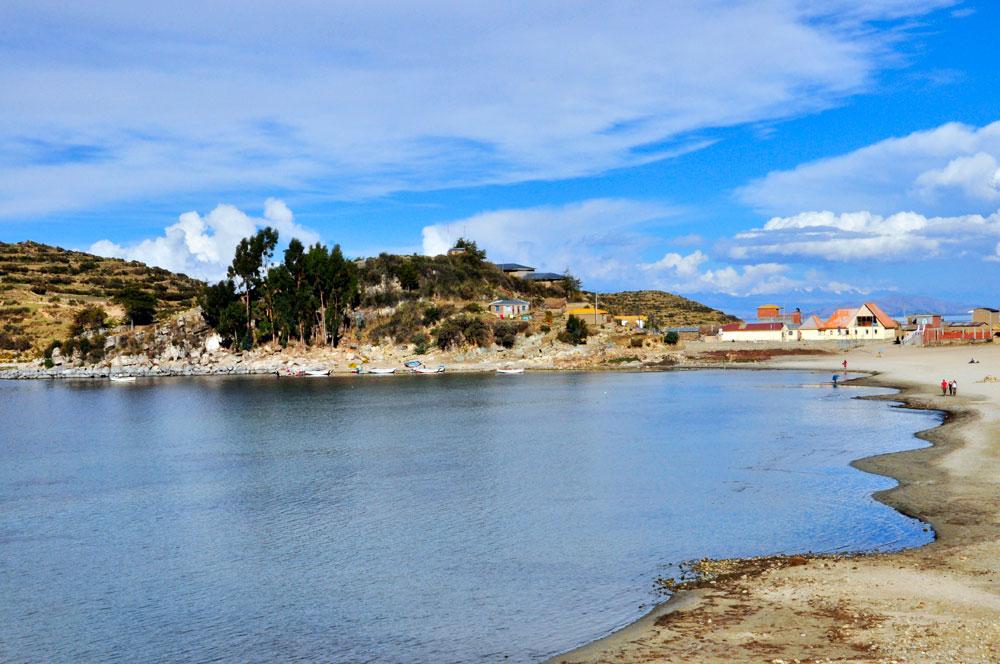 Isla del Sol, une crique, une plage