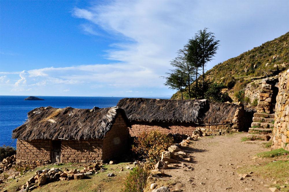 Isla del Sol, habitations isolées