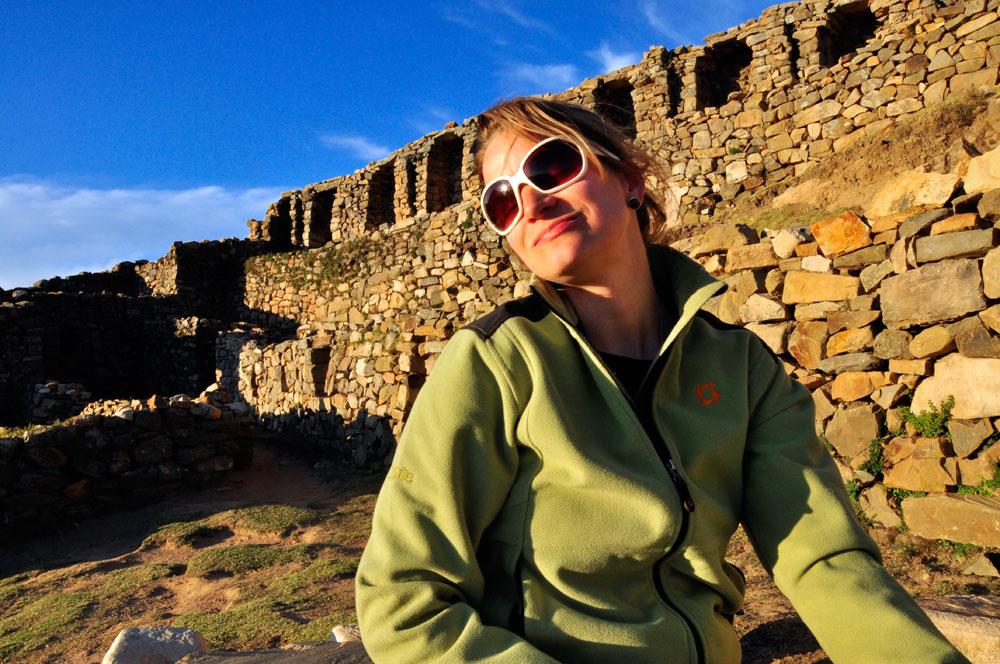 Isla del Sol, nymphe prenant un bain de soleil au labyrinthe