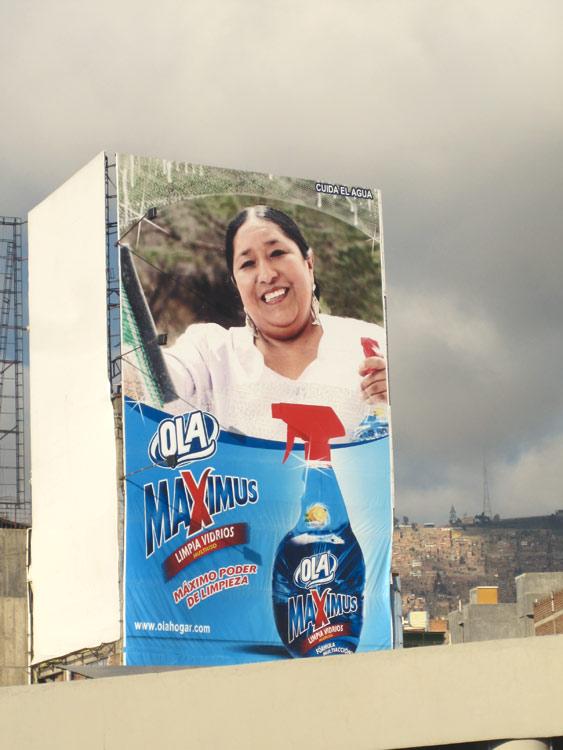 La Paz, page de pub