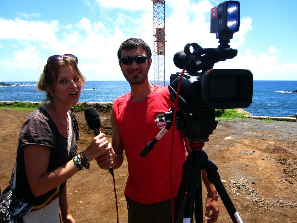 Interview pour la télé tahitienne