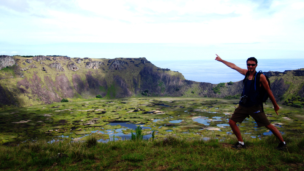 Cratère du volcan Rano Kau