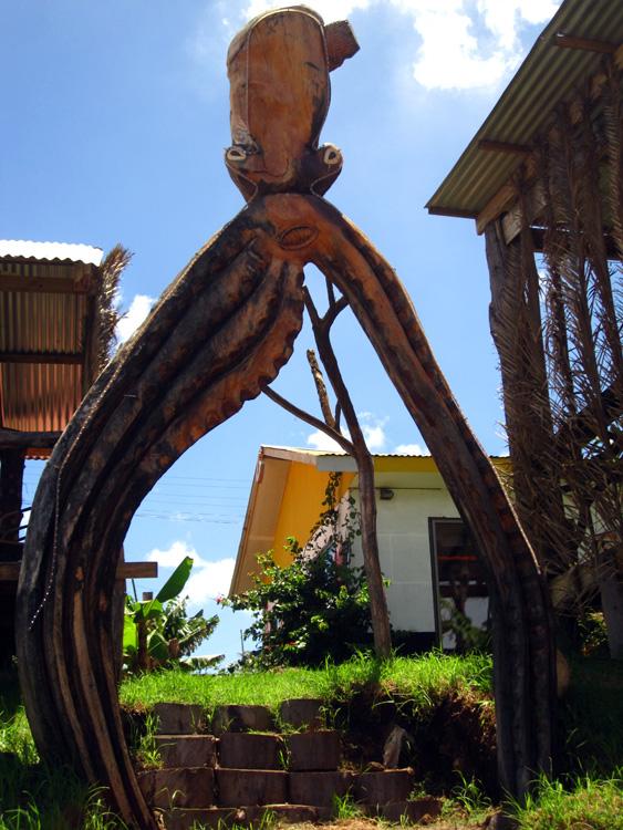 Portique en forme de poulpe