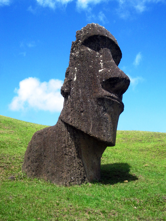 La cantera, carrière de Moaïs au volcan Rano Raraku