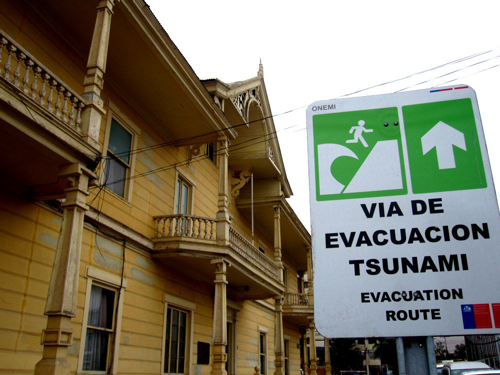 Iquique, menace de tsunami