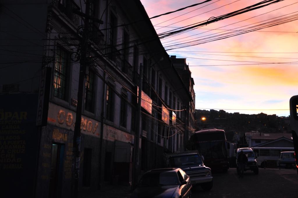 La Paz, coucher de soleil