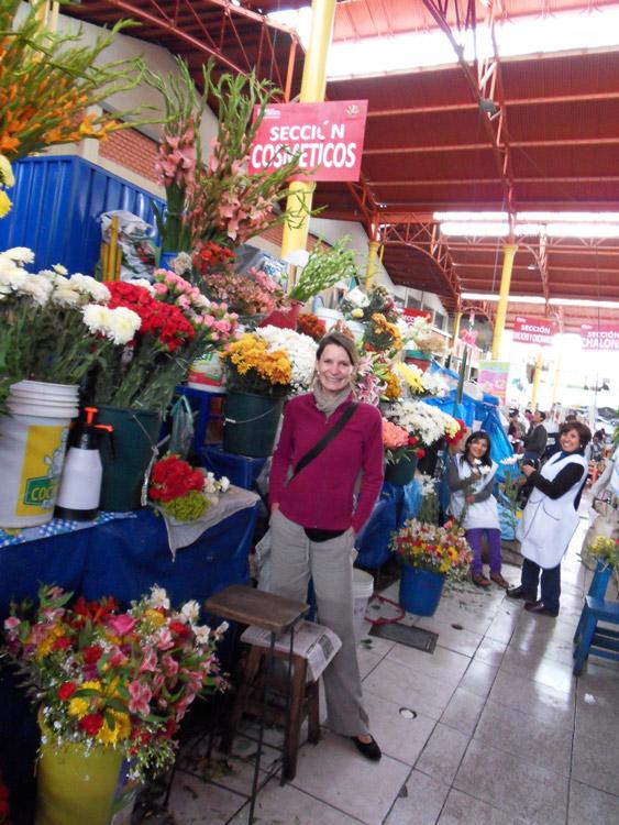 Elvi au marché d'Arequipa