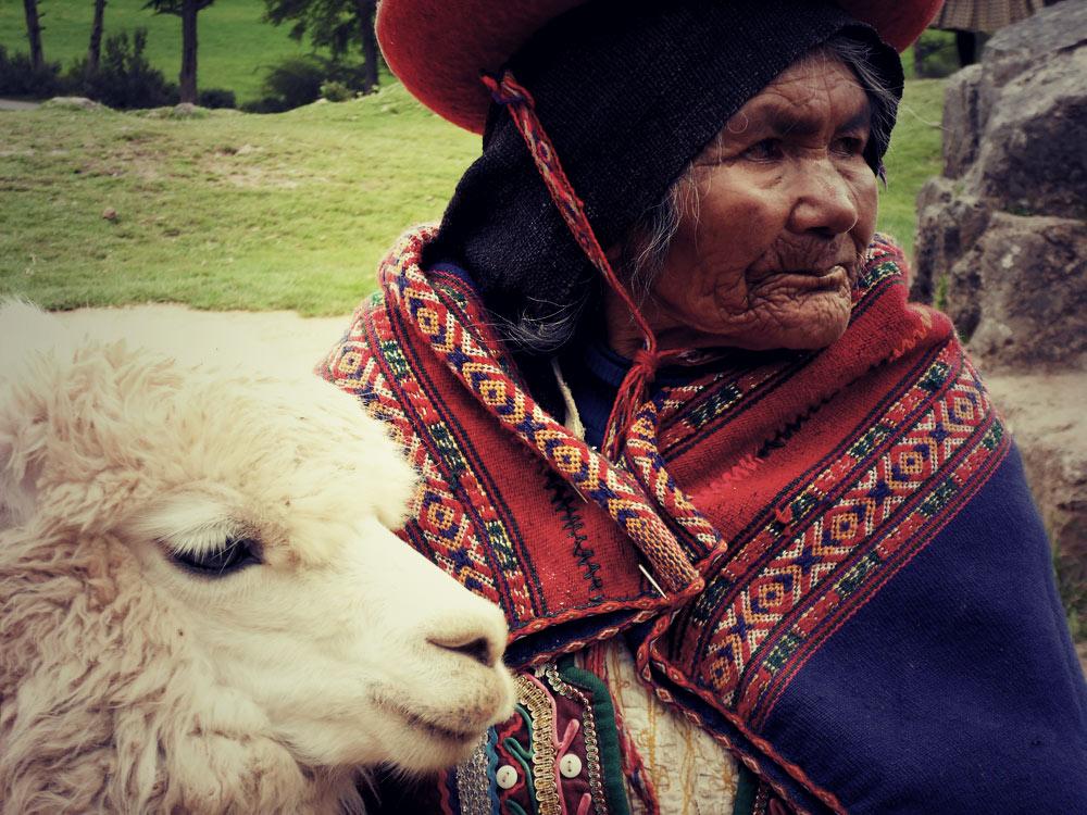 La mamie et le lama