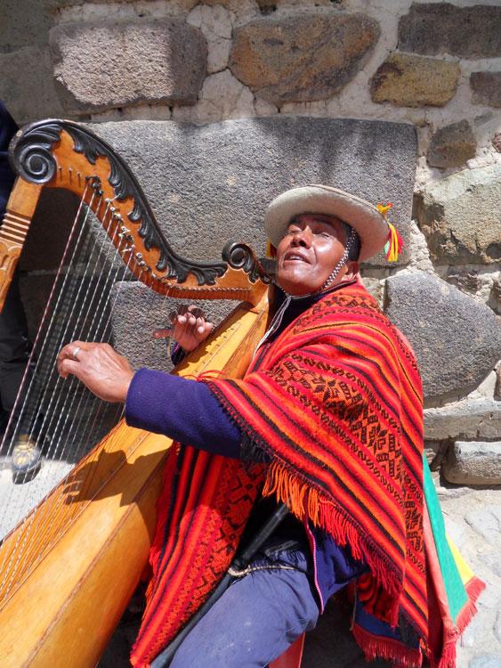 Ollantaytambo, harpiste
